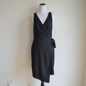 A New Day Black Wrap Dress